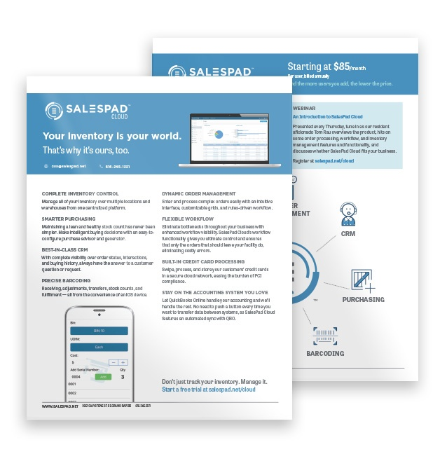 SalesPad Cloud fact sheet.